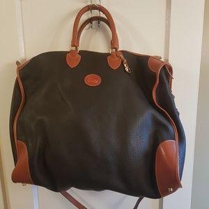 Navy Blue & Brown Dooney & Bourke Travel Bag
